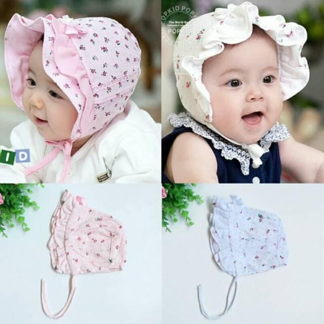 Topi bonnet bayi/Topi bayi/topi anak/topi bayi import/baby hat/topi bayi noni/top bonnet/topi noni | Shopee Indonesia
