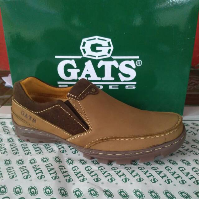 Sepatu kulit casual Gats BR 5503 brown new original  e3fd06f40f