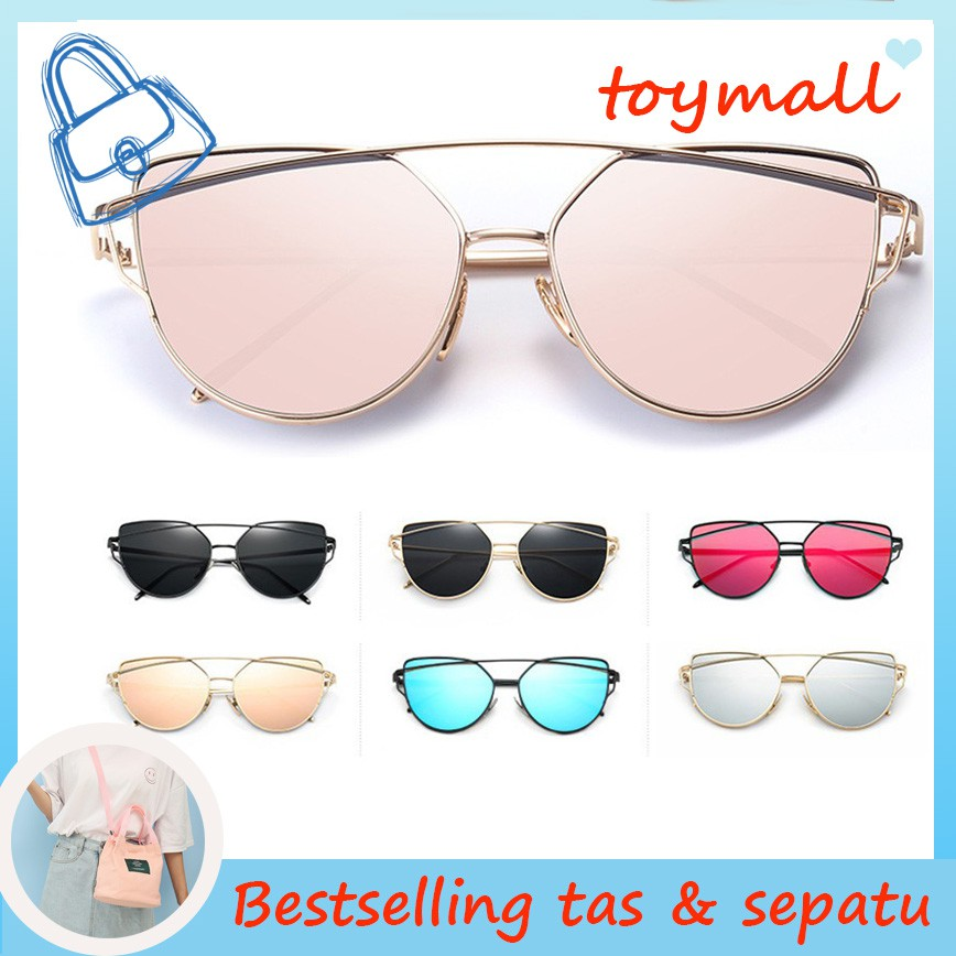 Kacamata Hitam Wanita Bentuk Hati Warna Hitam Jelly lady-double Candy Color  Sunglasses Women  70efed0a3d