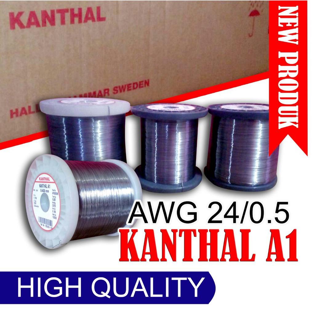 Vapor Teach Wire Kanthal A1 24awg 30 Feet Kawat Vape Khantal Shopee Indonesia