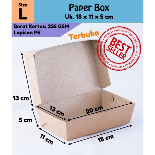 Packaging Makanan: MIN. ORDER 100! Kemasan / Packaging / Box / Kotak / Lunch