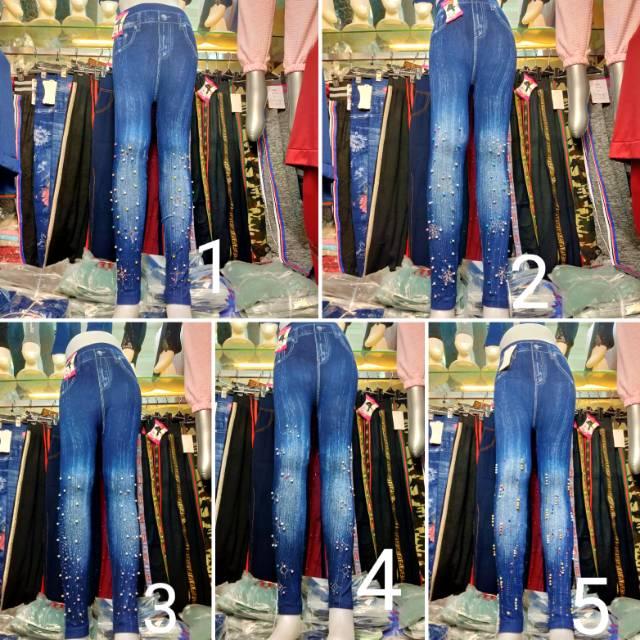 Celana Legging Denim Levis Mutiara Import Fashion Shopee Indonesia