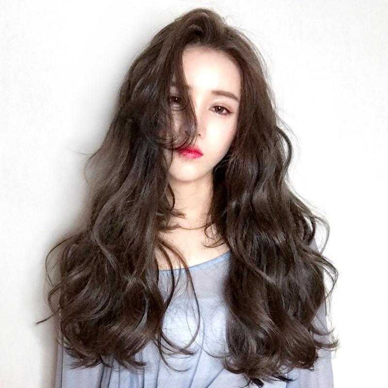 Wig Rambut Palsu Wanita Model Panjang Lurus Poni Belah Samping Ala Korea Untuk Cosplay Shopee Indonesia
