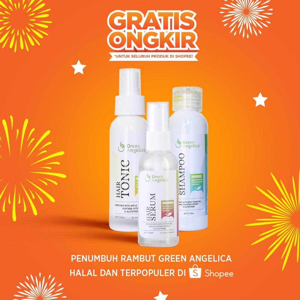 100 Original Green Angelica Paket Lengkap Penumbuh Rambut Rontok Gratis 1 Tas Cantik Obat Botak Herbal Dan Parah Shopee Indonesia