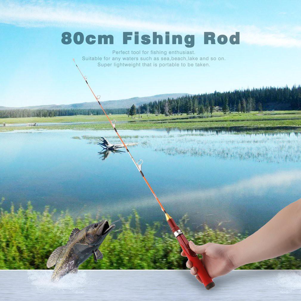 Carbon Fiber Portable Ultralight Ultrashort Telescopic Fishing Rod Sea Spinning Pole Color: