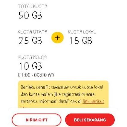 IM3 Indosat freedom oordeo 50gb