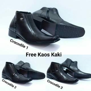 Sepatu Pantofel Crocodile Zipper Kulit Asli Formal Pantopel Kerja Kantor  Pria 1cfa2a7f63