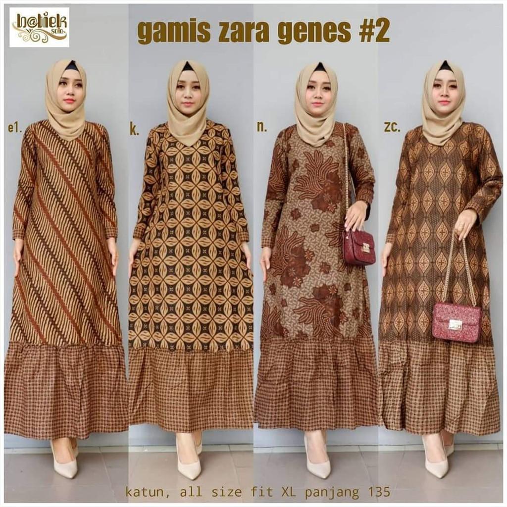 gamis couple zara genes - batik couple gamis