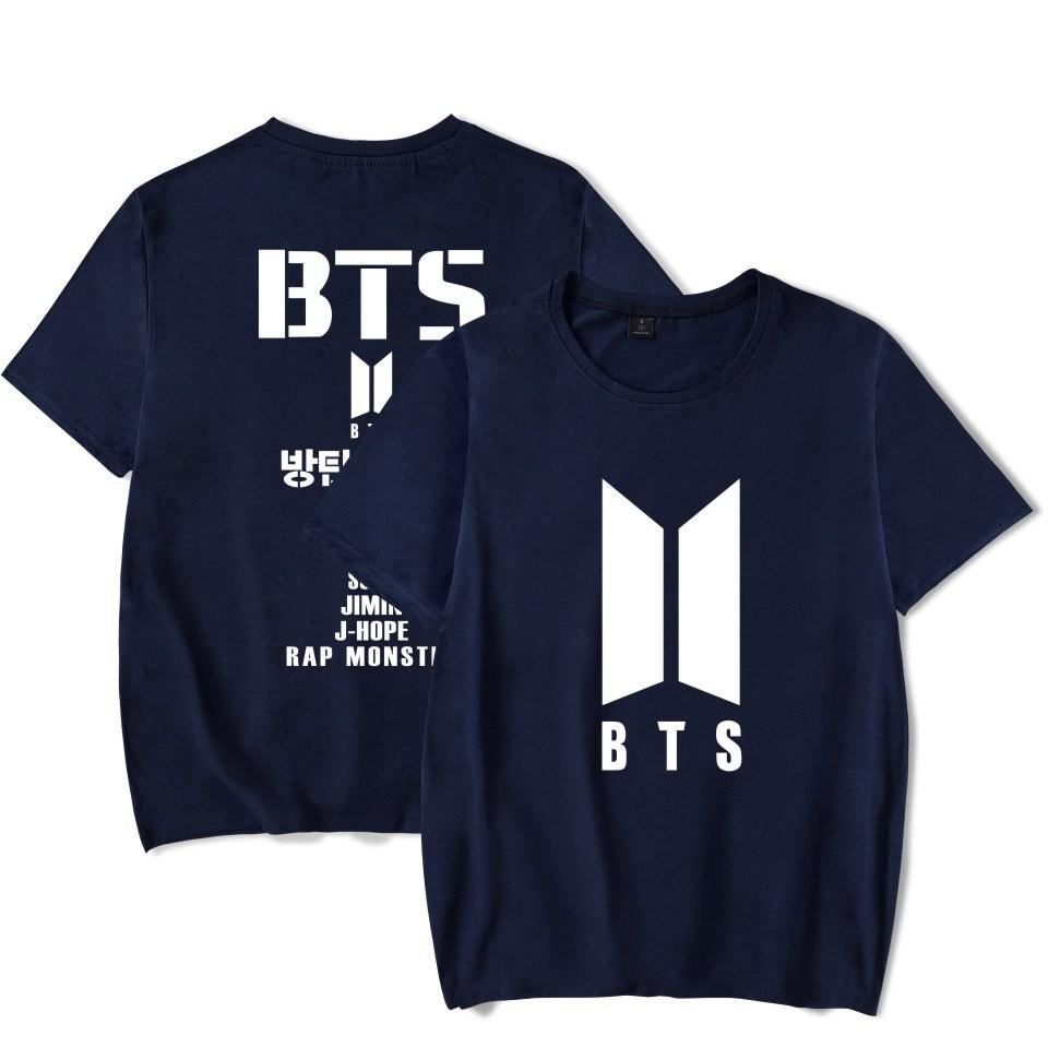 kaos bts baju bts tshirt bts allmember new logo