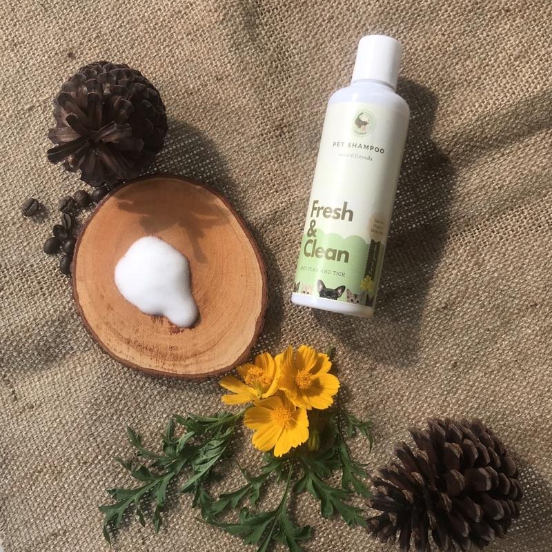 Shampo kucing anjing | shampo anti gatal dan kutu | cat and dog shampoo | natural pet shampoo 250ml-Floral garden