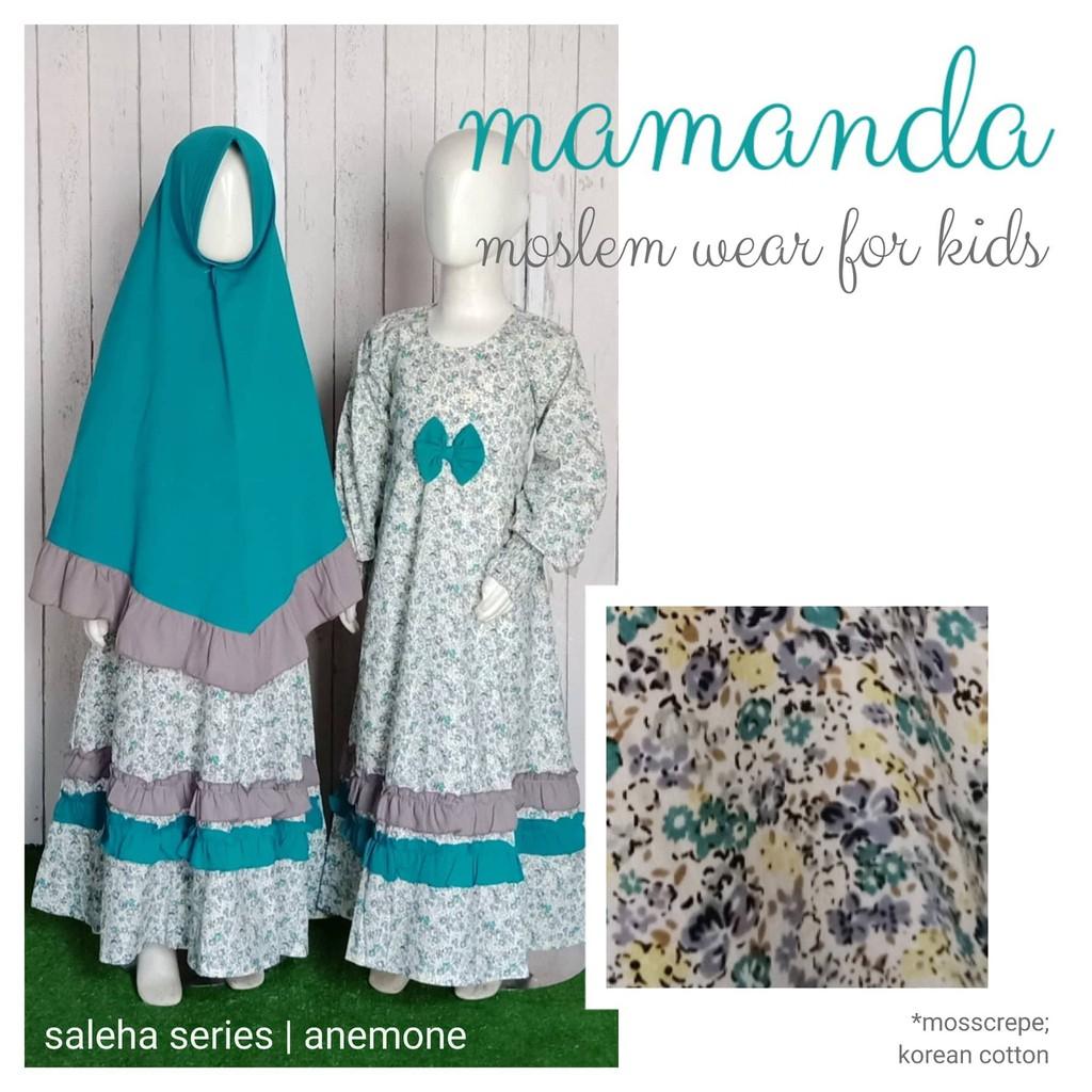 Gamis Anak Anemone Saleha Series by Mamanda