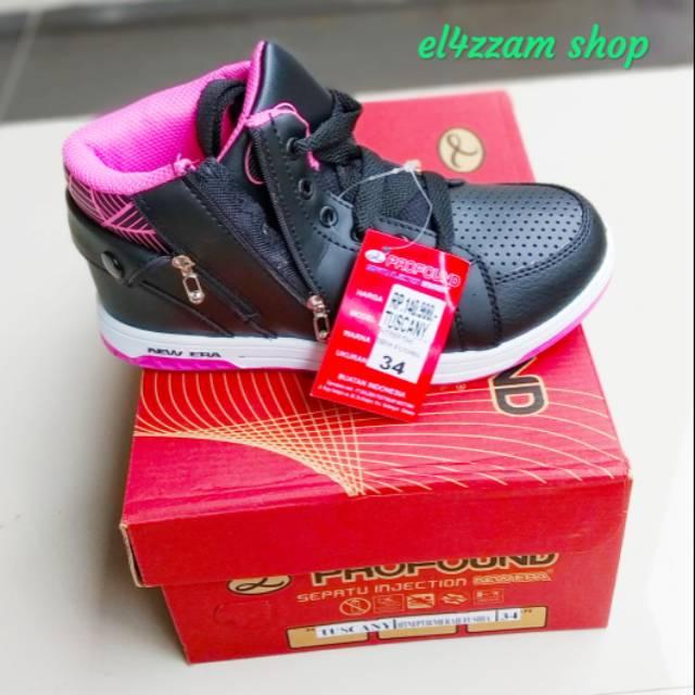 New Era Tuscany Sepatu Sekolah Sepatu Anak Anak Warna Hitam Pink