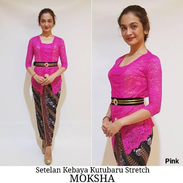 Setelan Kebaya Stretch Moksha Pink