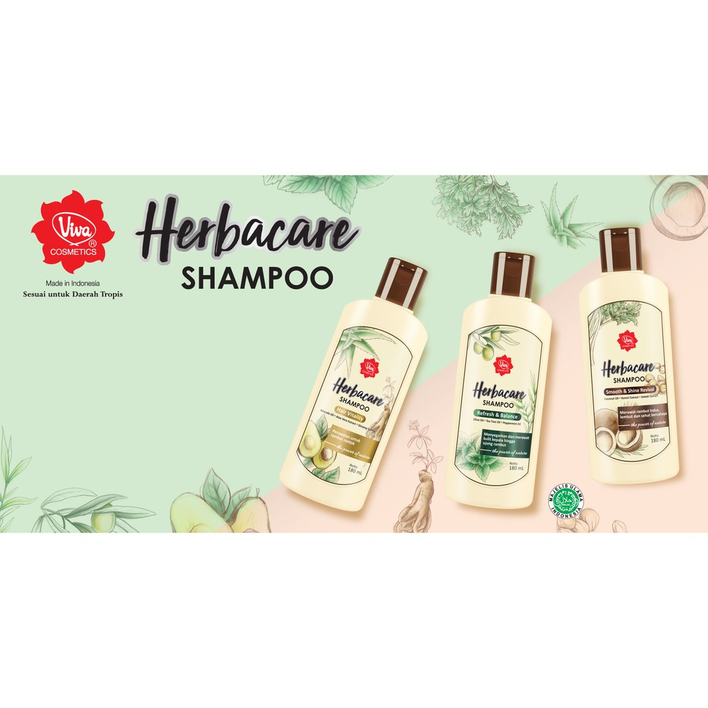 Viva Herbacare Shampoo - 180ml (tersedia 3 variant)-2