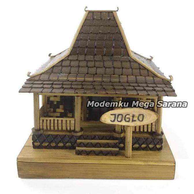 Produk Terbaru Miniatur Rumah Adat Jawa Timur Joglo Dari Bambu 12x15x10 Shopee Indonesia