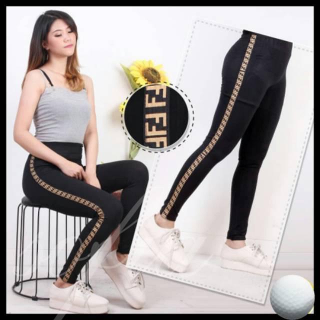 Legging Fendi Legging Dewasa Leging Import Legging Wanita Legging Panjang Shopee Indonesia