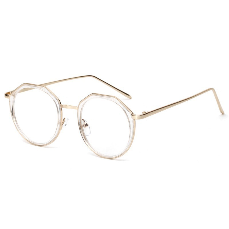 Gelas kacamata cermin datar Fashion Metal Frame Optical Glasses Eyeglasses  Clear Lens Sunglasses  d9873855be
