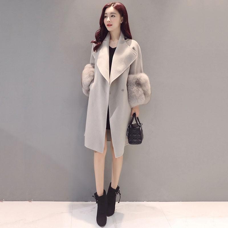 Mantel Panjang Slim Bahan Wol Hangat untuk Musim Dingin | Shopee Indonesia