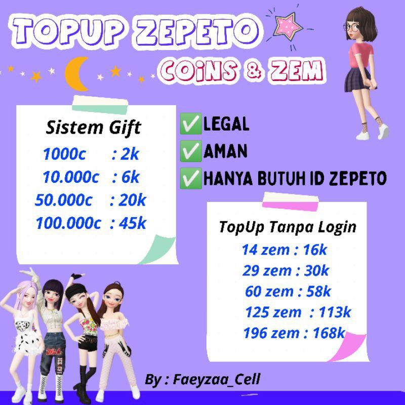 [READY] Coins Zem Zepeto LEGAL Sistem Gift #1