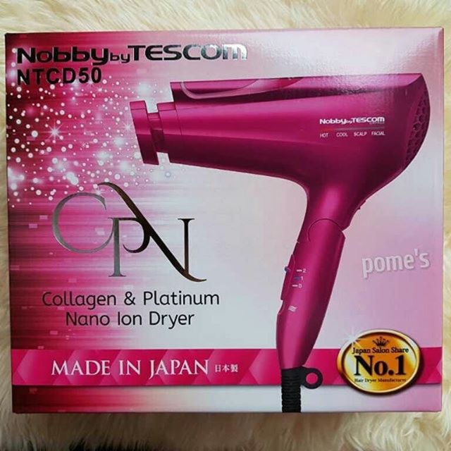 NOBBY BY TESCOM NTCD50 COLLAGEN   PLATINUM NANO ION HAIR DRYER ... 229522d42e