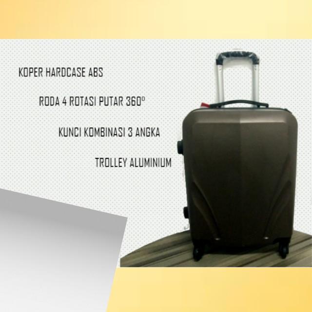 Koper travel murah roda 4 putar ukuran 22 inch Robert Ansell ABS Hardcase high Quality