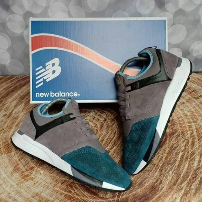 Sepatu New Balance 247 Revlite Grey Core Green Premium Original - NB