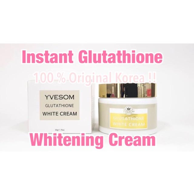 GLUTATHIONE WHITE CREAM instant whitening cream krim pemutih wajah original korea theraskin ertos | Shopee Indonesia