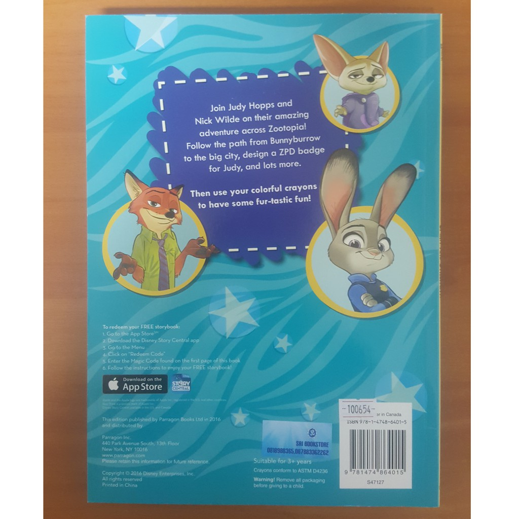 "Disney Zootopia ""Spirit And Stremgth"" With Over 30 Stickers"