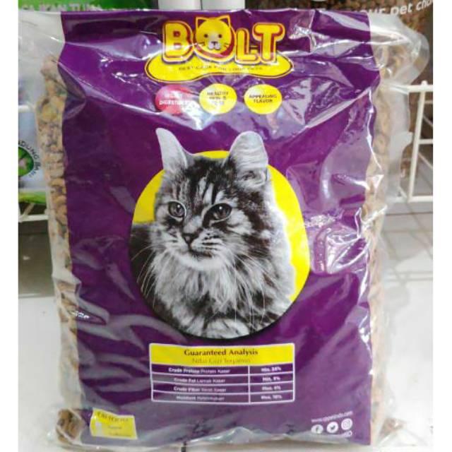 Makanan Kucing Bolt 1kg Shopee Indonesia