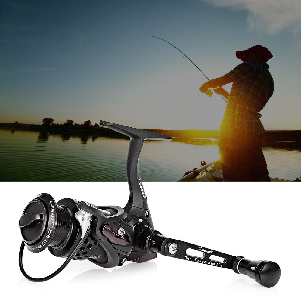 【Promo Besar】COONOR 11+1BB Lightweight Spinning Fishing Reel with Foldable Handle | Shopee Indonesia