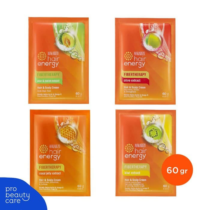 Makarizo Hair Energy Fibertherapy Hair Scalp Creambath 60 Gram 1 Sachet Shopee Indonesia