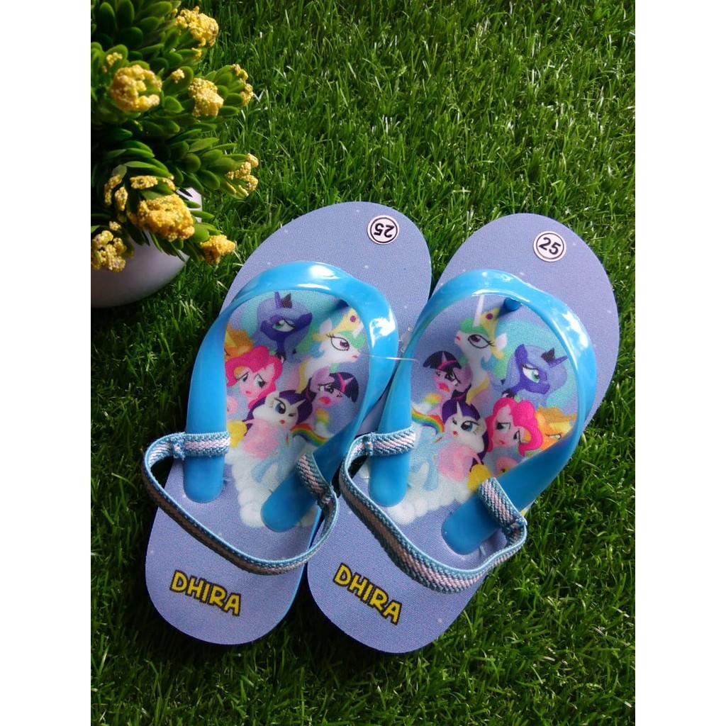 MYLITTLE PONY Sandal Unik Sandal Casual Anak Perempuan Gambar Karakter Little Ponny Lucu Dan Keren
