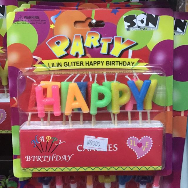 Lilin Huruf Happy Birthday / Lilin Huruf Hbd / Happy Birthday Candle | Shopee Indonesia