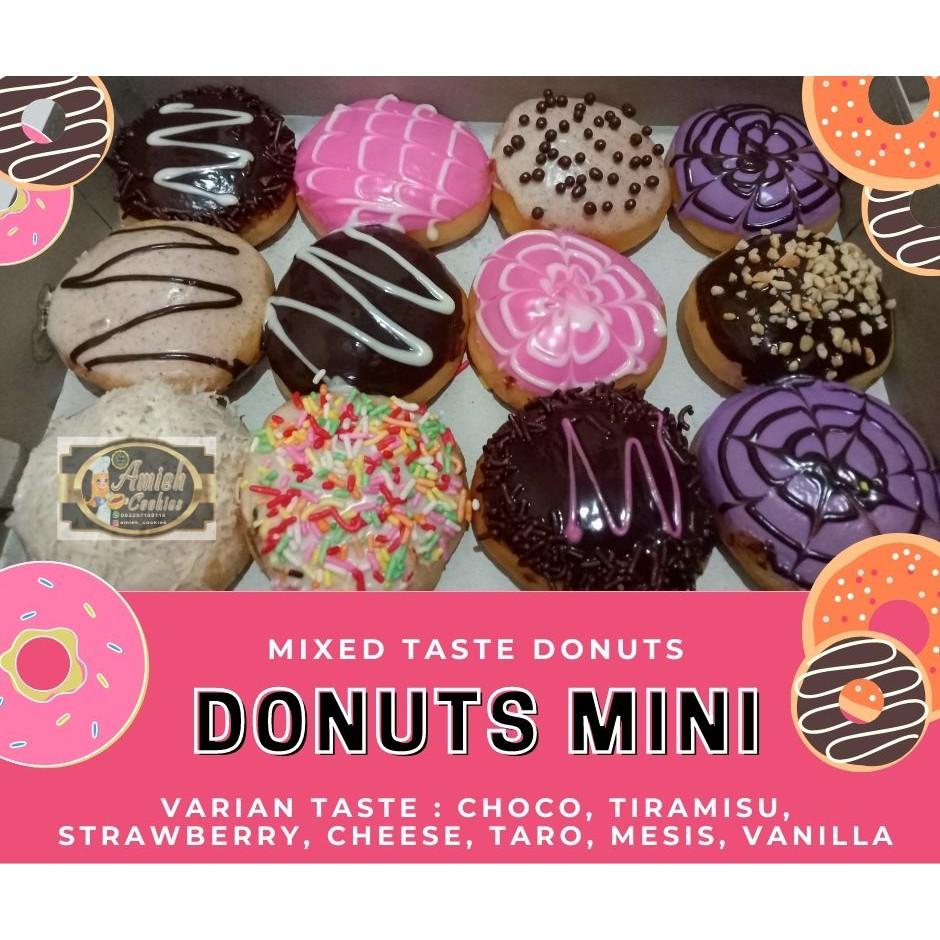 Donat / Donut / Donat mini / Donat Glaze / Ultah / ucapan / Min. Order 12 Pcs