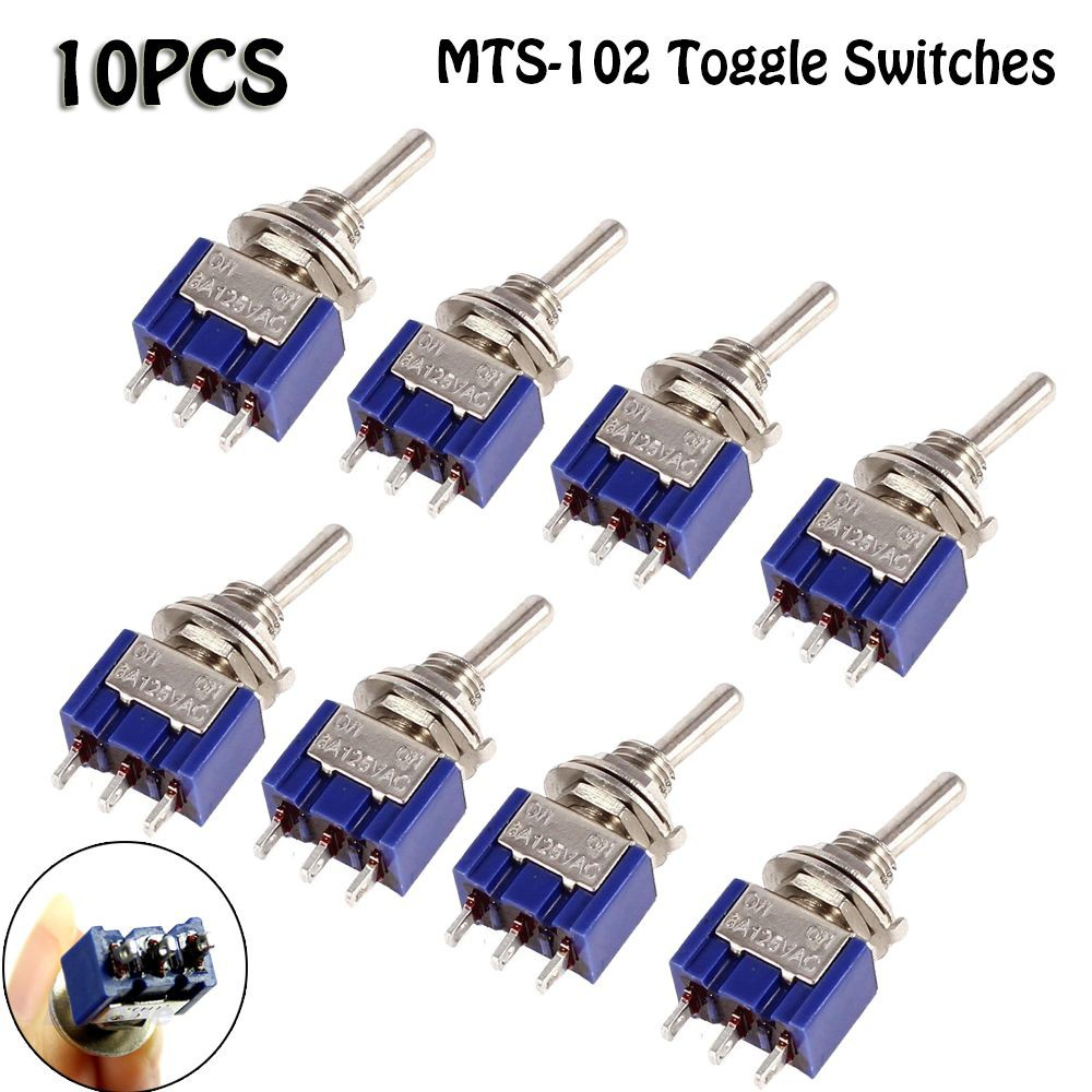 25 Pcs 3 Pin Terminals On//On 2 Position SPDT Toggle Switch AC 125V 6A
