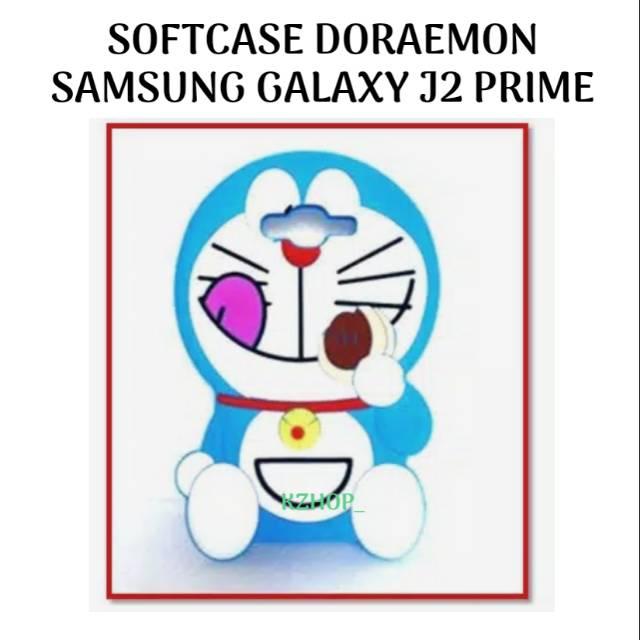 Softcase Samsung Galaxy J2Prime / J2 Prime Cover Hp Casing Silikon Karakter Doraemon Kucing Boneka