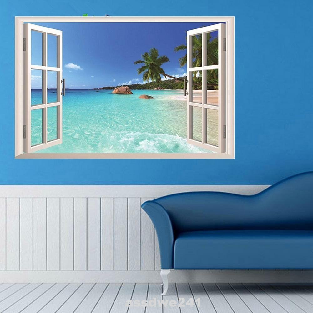 Sea View Decoration Gift Removable Self Adhesive Bedroom Wall Sticker Shopee Indonesia