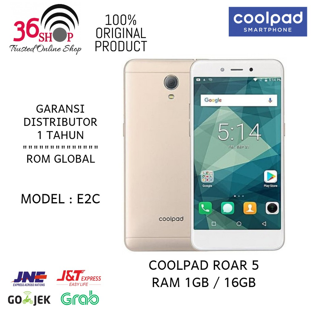 Coolpad Roar 5 4G Ram 1GB - 16GB [ 100% New Original ] Garansi 1 Tahun