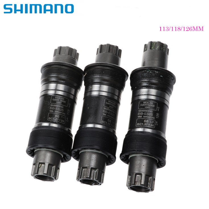 "Shimano Bb-Es25/Es300 Crankset Bottom Bracket Sepeda Octalink Ukuran 68x113/118/126mm Bc1.37 "" X 24t Dengan Ulir Inggris"