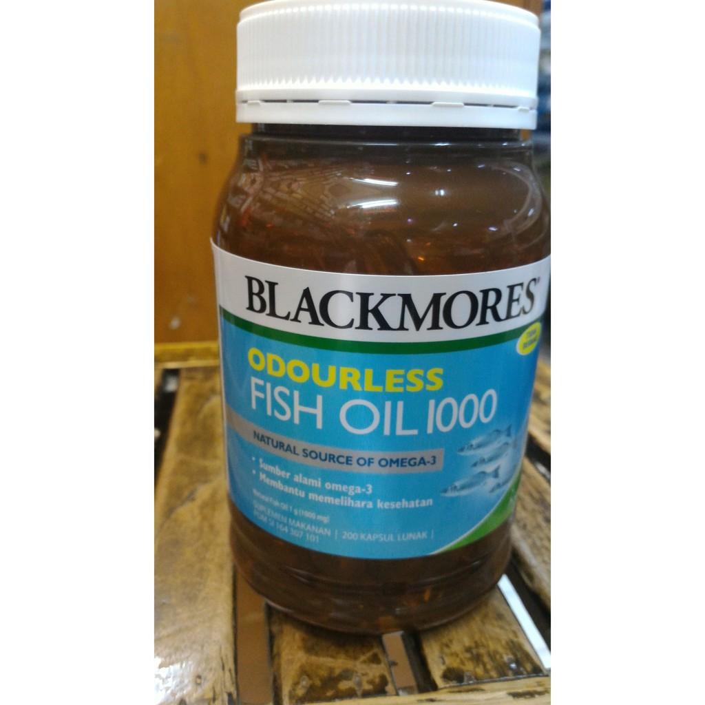 Diskon Blackmores Fish Oil Odourless Minyak Ikan Omega 3 Bpom Si 200 Black Mores Isi 400 Capsules Original Shopee Indonesia