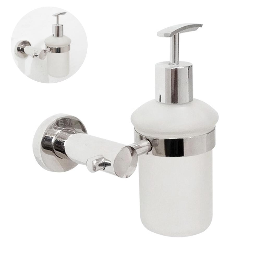 Office Stainless Steel Wall Mounted Liquid Washroom Kitchen Soap Dispenser Bathroom Manual Brushed