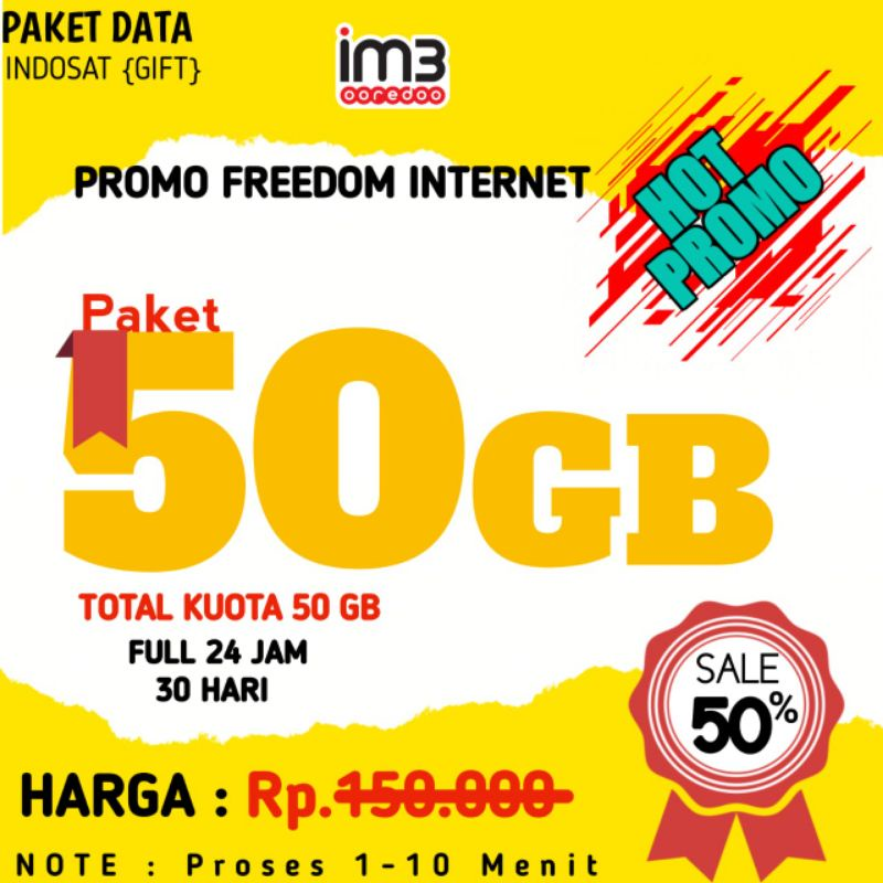 Indosat freedom 50gb 24 jam full || Unlimited Jumbo || Indosat 32gb || Indosat 39gb