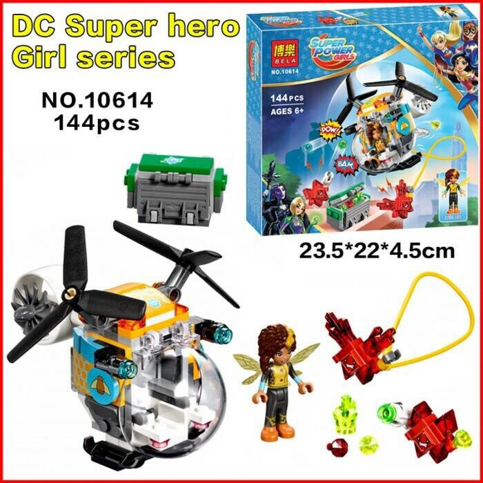 Model Building Logical 144pcs Dc Super Hero Girls Bumblebee Helicopter 10614 Model Building Blocks Assemble Bricks Gifts Toys Compatible With Lego Blocks