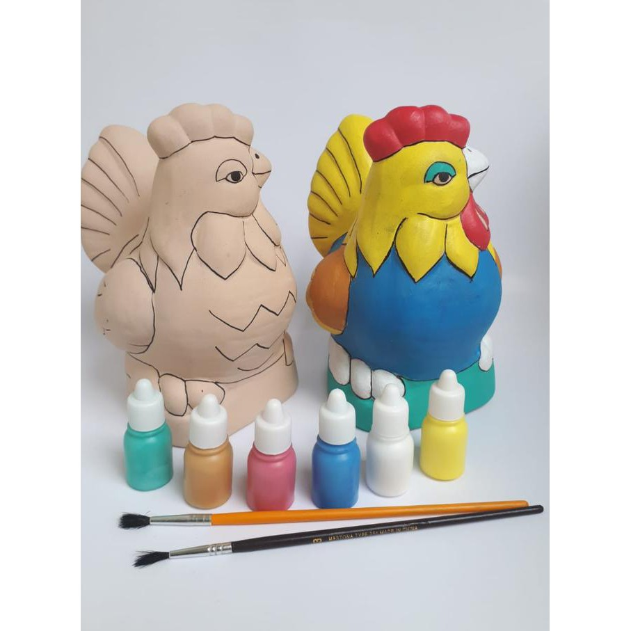 Produk Terbaik Mainan Edukasi Kado Unik Mewarnai Patung Celengan Ayam