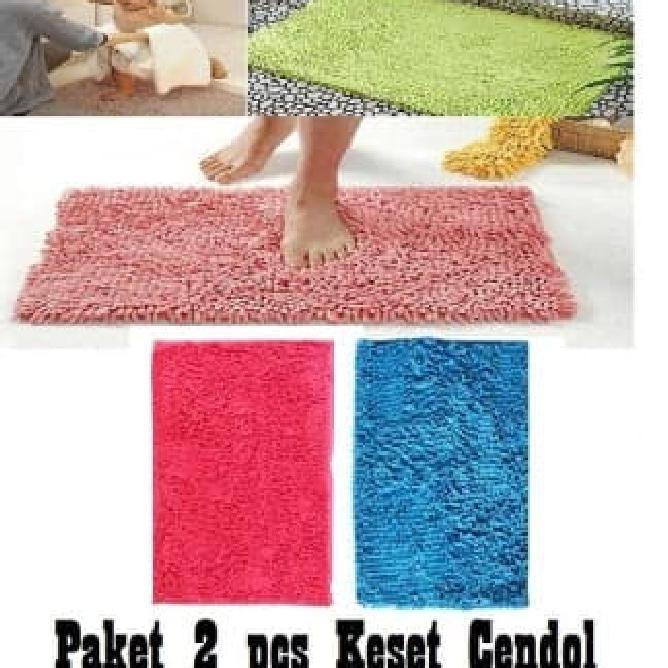 Star Seller Keset Cendol Dof Biru 40 X 60 Cm / Karpet Bulu / Doormat Chenille
