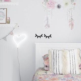 2Pcs Stiker Dinding Desain Bulu Mata Bahan Kayu untuk ...