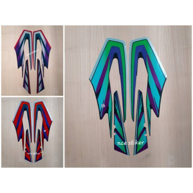 Stiker Bodi & Lis Body & Striping Jupiter Mx 07 Non Kopling Hitam Biru | Shopee Indonesia