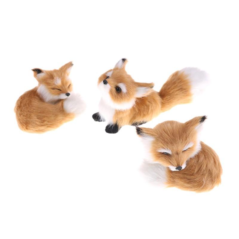 Simulation fox toy polyethylene /& furs squatting fox fox doll home decors HC