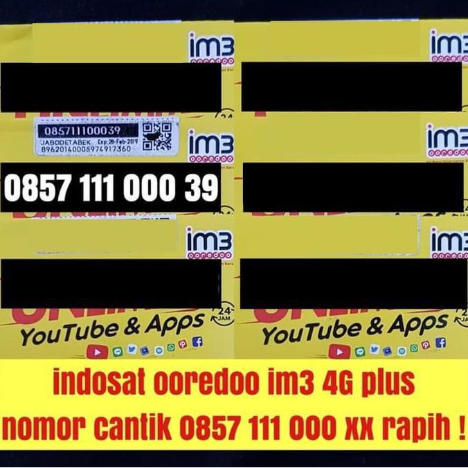 Indosat ooredoo im3 4G plus nomer cantik super kartu perdana terbaik   Shopee Indonesia