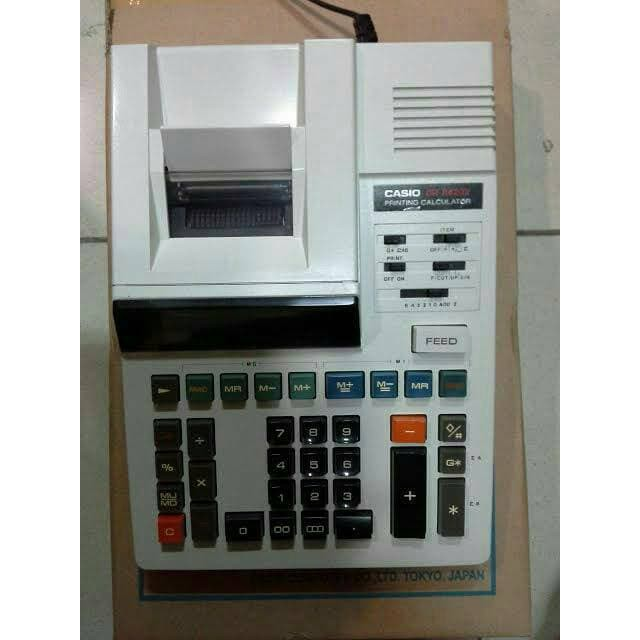 Black Casio Office Products DR-120R Full-Sized Printing Calculator